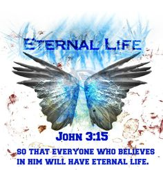 John 3:15 so that everyone who believes in him will have eternal life.