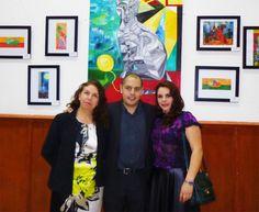 Rodrigo Aridjis, en la exposición del Club de Periodistas de México, Su Majestad El Gato