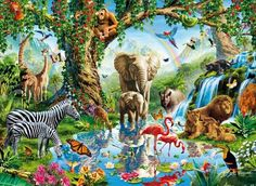 Jungle Lake (Puzzle Collector Art 500 by LPF)