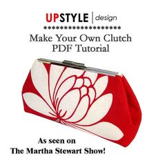 PDF Tutorial for Open Channel Purse Frames - As Seen on The Martha Stewart Show - Instant Download