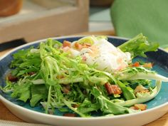 Frisee Salad with Egg and Bacon Recipe : Katie Lee : Food Network - FoodNetwork.com