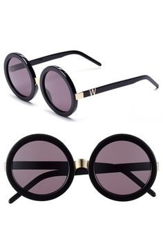 Wildfox 'Malibu' 56mm Round Sunglasses available at #Nordstrom