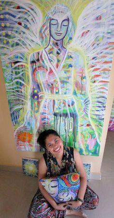 https://www.facebook.com/artspiritandme #mataji #painting #intuitive #artandspirituality #filipino #artist #abstract #portrait #nature #matajisharma