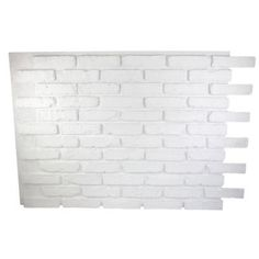 Superior Building Supplies Dove White 32 in. x 47 in. x 3/4 in. Faux Reclaimed Brick Panel - HD-RB3247-DWS at The Home Depot 99.00