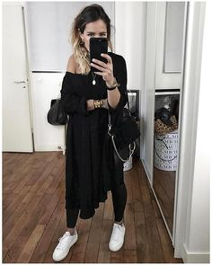 "Pocket: 7,113 Likes, 51 Comments - Audrey (@audreylombard) on Instagram: ""Cette robe @modetrotter ??? • Dress #modetrotter (available on @modetrotter) • Leather Pant #samsoe…"""