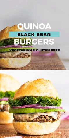 Vegetarian Quinoa Black Bean Burgers for a delicious plant based veggie burger anyone will love. Easy recipe and gluten free friendly. Quinoa Veggie Burger, Black Bean Quinoa Burger, Black Bean Burgers, Vegetarian Burgers, Fun Easy Recipes, Easy Meals, Plant Based Burgers, My Burger, Comfort Food