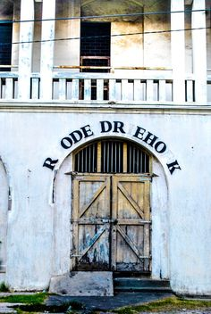 Missing letters.  The old holand building at old city of semarang indonesia.