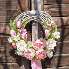 Romantický veniec s pivonkami / Hydrangea - SAShE. Grapevine Wreath, Grape Vines, Floral Wreath, Wreaths, Home Decor, Decoration Home, Room Decor, Vineyard Vines, Bouquet