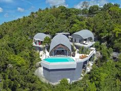 Villa Moon Shadow, Ko Samui, Thailand. Moon Shadow is located in the middle of thick jungle with breath-taking views over the Gulf of Thailand. It was the winner of Thailand Property Award 2013 for Best Villa Architecture and Design.