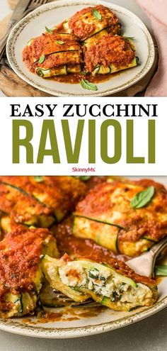 Who needs pasta? Go low-carb gluten-free and keto-friendly with this Easy Zucchini Ravioli. It's surprisingly easy to make too! Who needs pasta? Go low-carb gluten-free and keto-friendly with this Easy Zucchini Ravioli. It's surprisingly easy to make too! Keto Foods, Healthy Low Carb Recipes, Low Carb Dinner Recipes, Appetizer Recipes, Diet Recipes, Cooking Recipes, Low Carb Zucchini Recipes, Vegetarian Appetizers, Flour Recipes
