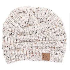 07233b59bd0 Cable Knit Confetti Bennie in Oatmeal by C.C Beanie. Bobble HatsBest Winter  HatsWarm ...