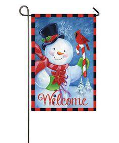 Look at this #zulilyfind! Snowman 'Welcome' Outdoor Flag by Evergreen #zulilyfinds