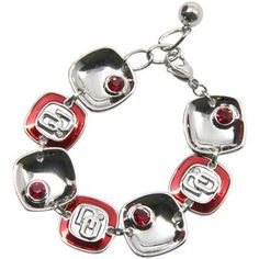 Oklahoma Sooners Ladies Brit Square Bracelet