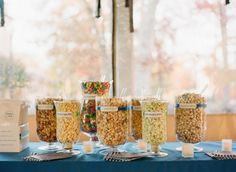 Glen Echo Washington DC Wedding Reception Candy Creative Carnival Wedding at Glen Echo Park: Stephanie + Adam Candy Bar Wedding, Carnival Wedding, Wedding Snacks, Buffet Wedding, Wedding Dinner, Party Snacks, Spring Wedding, Wedding Decor, Party Favors