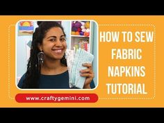 How to Sew Fabric Napkins- Perfectly mitered corners! Quilting Tips, Quilting Tutorials, Sewing Tutorials, Diy Sewing Projects, Sewing Hacks, Sewing Ideas, Sewing Diy, Sewing Crafts, Craft Projects