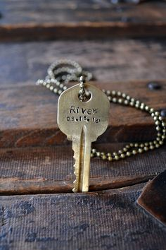 Pet Key - Custom Name & Date Key - Animal Lover - My Pet Holds The Key To My Heart - Pet Adoption - Dog - Cat - Leather or Chain Necklace by Keytiques on Etsy https://www.etsy.com/listing/510877045/pet-key-custom-name-date-key-animal