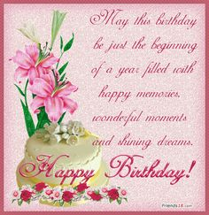 Happy Birthday Wishes Friend Friends Cards 25061wall.gif