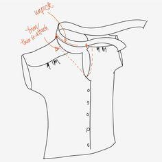 tie-neck refashion