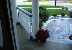 Front Porch Railings in Plainsfield, IL - Note the width. of the column