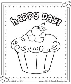 29 Cupcake Coloring Pages 6 Free