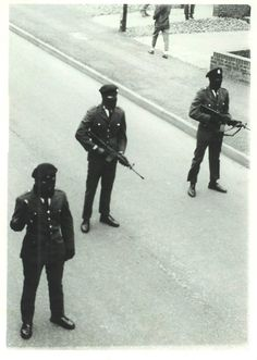 Members of the Derry brigade of the IRA, date unknown but probably mid 70s.