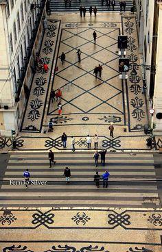 Rua Augusta - Lisbon Calçada portuguesa - Portugal