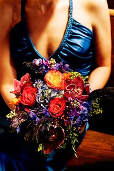 Bridesmaid Bouquet ~ Jewel Colours