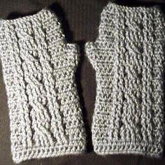 Crochet Me Lovely - Cable Wrist Warmer pattern by JR Crochet Designs
