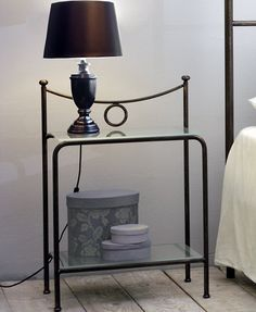 Seagull Bedside The simple design of this bedside makes it a good, minimalist piece to have in your room. Wrought iron frame. The resistance and lightness of this material makes the bedside a reliable and durable piece.