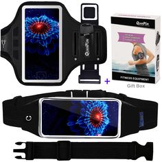 Cell Phone Armband Running Belt for iPhone 8 Plus 7 Plus Plus Galaxy Edge Waist Pack Workout Wristband Sport Arm Band Strap Key Holder for Hiking Jogging Set of to Black Running Pouch, Running Belt, Best Cell Phone Deals, Best Iphone, Gym Accessories, Cell Phone Accessories, Arm Workout With Bands, Phone Charger Holder, Fitness Wristband