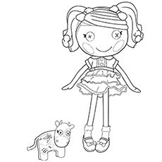 Lalaloopsy Doll coloring page for kids, printable free - Little ...