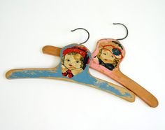 Vintage Painted Wood Baby Clothes Hangers / by AttysSproutVintage