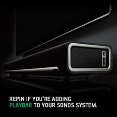 Your TV's calling... It said buy the Sonos Playbar