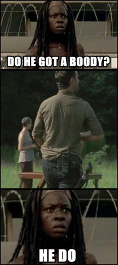 Michonne checking out Rick ;-)