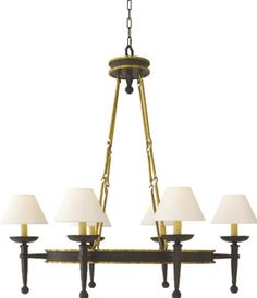 DINING ROOM CHANDELIER: OVAL RING TORCH CHANDELIER