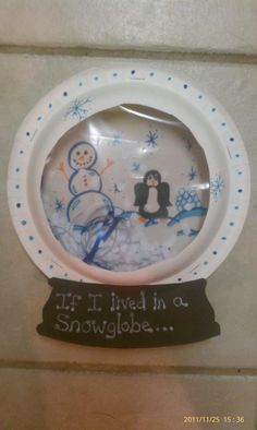 Snow globe w/ bowl and plastic from baggie
