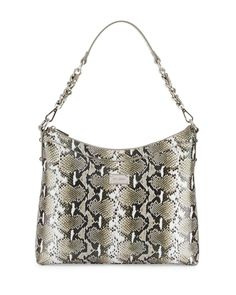 e722cc03e431 St. John Collection Python-Embossed Leather Hobo Bag