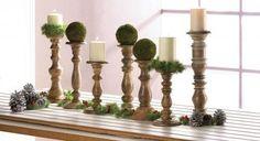 Homestead Turned Wood Candle Holder