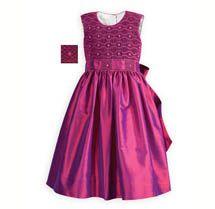 Iridescent Raspberry Silk Dress
