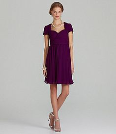 JS Collections Bridesmaid Velvet Chiffon Dress #Dillards