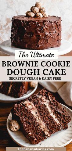 Vegan Baking Recipes, Healthy Cake Recipes, Vegan Dessert Recipes, Sweet Recipes, Delicious Desserts, Dairy Free Baking, Best Cake Recipes, Cheesecake Vegan, Vegan Brownie