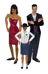 Old School - The Sims 1...It all started with the Goth family
