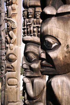 Kitwanyou Totem Poles, Nass Valley, Northern British Columbia, Canada CM11-06