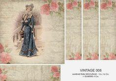 FOLHAS DE DECOUPAGE DECOPAPER: Vintage Prints 16x16 + GUARD (2)