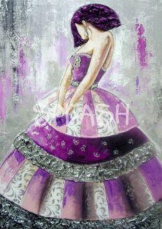 Menina malva, plata y rosa SP639 # cuadros meninas# cuadros meninas modernas# cuadros malvas# cuadros plata# cuadros modernos# cuadros# baratos# tiendas de cuadros online#