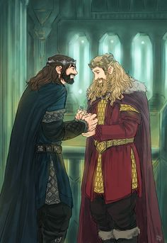 Fili, King Under the Mountain. #hobbit #fanart Sigh...would that this could be