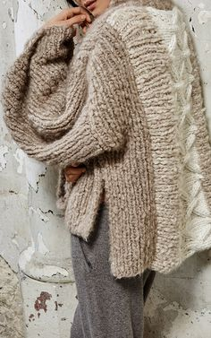 Cable Knit Mock neck by TUINCH for Preorder on Moda Operandi