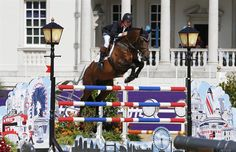 Britain's Nick Skelton rides Big Star during the equestrian individual jumping first qualifier in Greenwich Park at the London 2012 Olympic Games August 4, 2012.