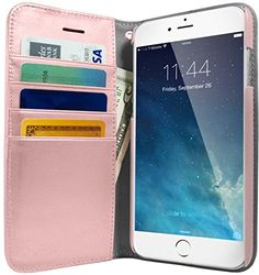 Silk iPhone 7 Plus Wallet Case  Folio Wallet for iPhone 7 Synthetic Leather Kickstand Flip Cover  Rose Gold ** Check this awesome product by going to the link at the image.