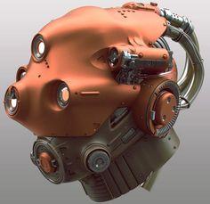 Scifi Headgear, Tor Frick on ArtStation at… Character Concept, Character Design, Mekka, 3d Modelle, Sci Fi Armor, Robot Concept Art, Helmet Design, Sci Fi Characters, Mechanical Design